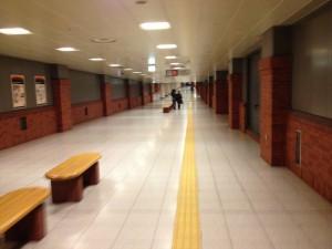 札幌 北一条駐車場の通路