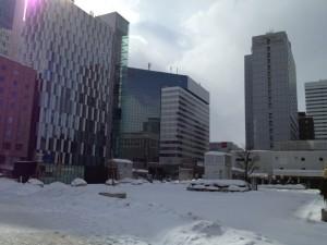 札幌駅前の雪