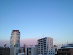 ホテルから見る札幌の朝