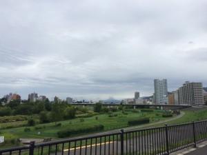豊平川沿いサイクリング